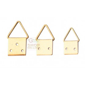 HANGERS brass-PLATED STEEL ball JOINT No. 1 WITH NAILS PCS. 20