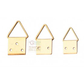 HANGERS brass-PLATED STEEL ball JOINT No. 2 WITH NAILS PCS. 20