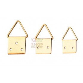HANGERS brass-PLATED STEEL ball JOINT No. 3 WITH NAILS PCS. 20