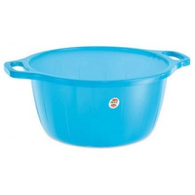 Bacinella In Plastica bombata Azzurra diam. cm. 40