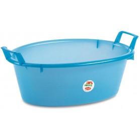 Bacinella In Plastica Ovale Azzurra diam. cm. 45 lt. 12