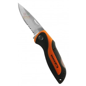 BAHCO FOLDING KNIFE WITH BLADE SAFETY LOCK CM. 7,5