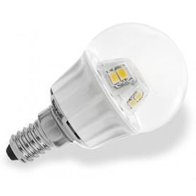 BEGHELLI LAMPADA A LED 56070 SFERA E14 W4,0 LUCE CALDA TRASPARENTE