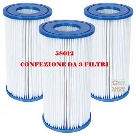 BESTWAY 3 FILTRI A CARTUCCIA 3 PER POMPE DA 5.678 LT/H COD. 58012 ORIGINALE