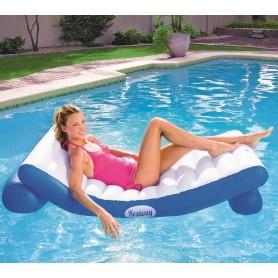 Bestway 43107 Blu, Bianco Vinile Sedia a sdraio galleggiante galleggiante da piscina e da spiaggia