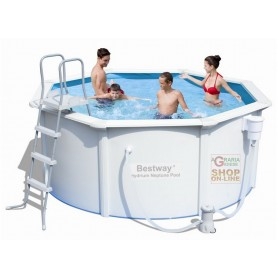 BESTWAY 56290 PISCINA STEEL WALL HYDRIUM POSEIDON RIGIDA TONDA DIAM. 305 x 122h. ALL INCLUSIVE