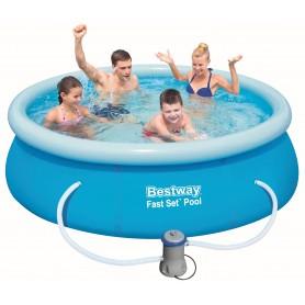 Bestway Fast Set 57268 Inflatable pool Rotondo 2300L Blu piscina fuori terra