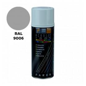 BOMBOLETTA SPRAY ACRILICO RAL 9006 ALLUMUNIO RUOTE ML. 400