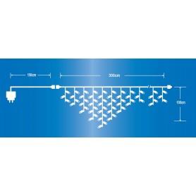 CASCATA LUCI 150 LED CON FLASH-IP44 PROLUNGA BIANCO CALDO
