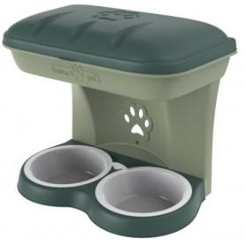 Ciotola per cani Bama Food Stand colore verde kit da appendere a parete