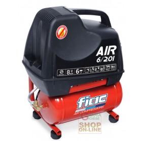 COMPRESSORE ELETTRICO FIAC AIR 6/201 ARIA COMPRESSA PORTATILE CON SERBATOIO LT. 6