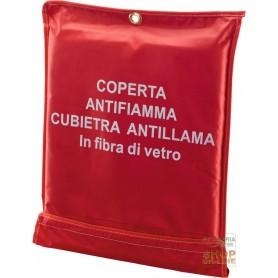 COPERTA ANTINCENDIO IN FIBRA DI VETRO CM 120X150