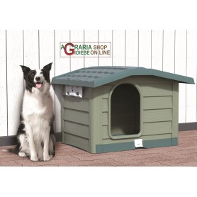 Cuccia per cani di media taglia Bama Bungalow verde dimensioni cm. 89x75x62h.