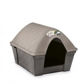 Cuccia per cani in plastica resistente Casa Felice Grande Tortora chiaro/grigia cm. 96x78x73h.
