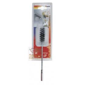 Eenhell Spazzola elicoidale per tubi filo di acciaio ondulato diam. 26 x 55 mm.