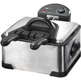 Friggitrice elettrica Clatronic FR3195 con doppia vasca inox watt. 2 x 2000