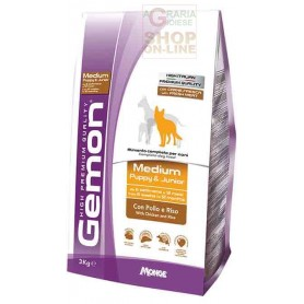 GEMON MANGIME PER CANI MEDIUM PUPPY JUNIOR CON POLLO E RISO KG. 15