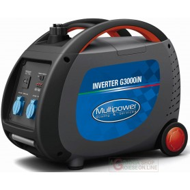 GENERATORE AD INVERTER PORTATILE PROFESSIONALE MULTIPOWER G3000iN KVA 2,4