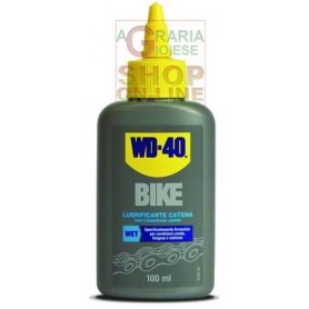 LUBRIFICANTI BIKE WD-40 WET-UMIDO LIQUIDO ML. 100