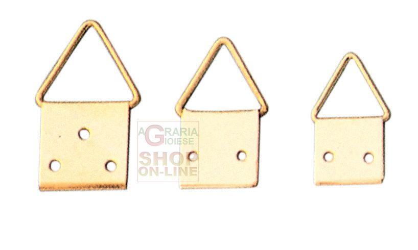 Attaccaglie in acciaio ottonato snodo n 4 con chiodi pz 20 for Ferramenta per falegnami