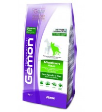 GEMON MANGIME PER CANI MEDIUM ADULT CON AGNELLO-RISO KG. 3