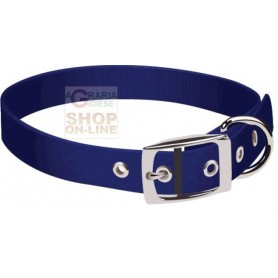 PET TRIBE COLLARE PER CANI IN NYLON CON FORI CM. 1,5 BLU