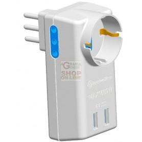 PRESA ADATTATORE 10A-2PR CON 1 PRESA SCHIUKO 2 PRESE USB E 2
