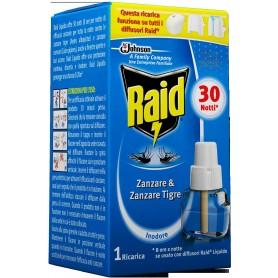 RAID RICARICA LIQUIDA 30 NOTTI CONTRO ZANZARE E ZANZARE TIGRE ML. 21