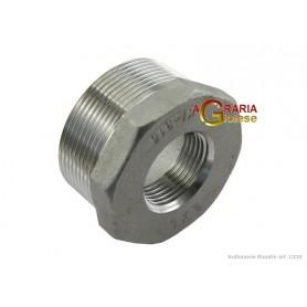 RIDUZIONE IN ACCIAIO INOX AISI 316 M/F 1 - 1/2 POLL.