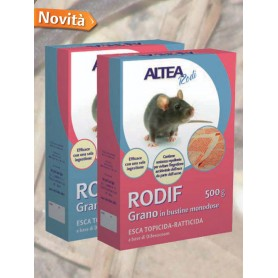 RODIF - Grano ESCA TOPICIDA-RATTICIDA GRANO, IN BUSTINE MONODOSE GR. 200