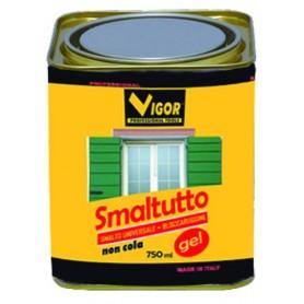 SMALTO ANTIRUGGINE SMALTUTTO GEL 9005 NERO LUCIDO ML. 750