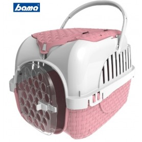 Trasportino per cani gatti e coniglietti Bama VOYAGER ROSA accessoriato full optional cm. 52x33x34h