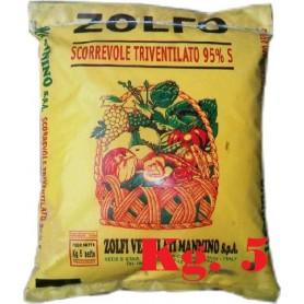 ZOLFO TRIVENTILATO SCORREVOLE GIALLO 95% KG. 5