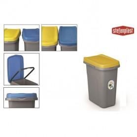 Home Eco System Bidone nettezza urbana Blu Capri/Grigio lt. 7