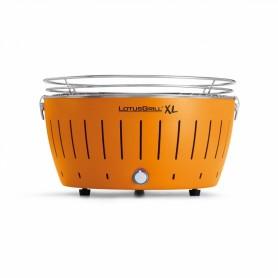 LOTUSGRILL LOTUS GRILL XL BARBECUE DA TAVOLO PORTATILE PER ESTERNO GRANDE CON CAVO USB ARANCIO